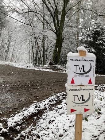 Wegmarkierung Winterlauf